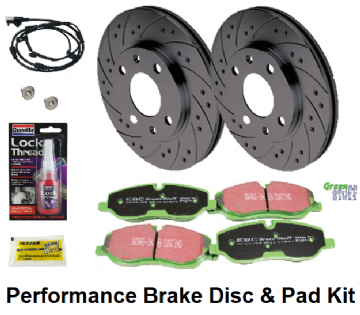 KIT228P Performance Rear Disc & Pad Kit Range Rover L322 (TRW Brake Calipers)